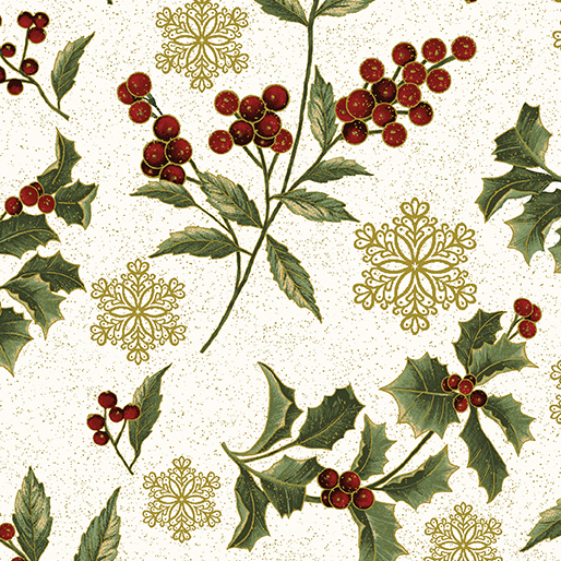 A FESTIVE SEASON Festive Holly Sprigs Cream