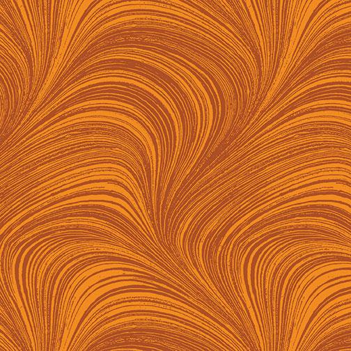 Benartex - Wave Texture Pumpkin 2966-38