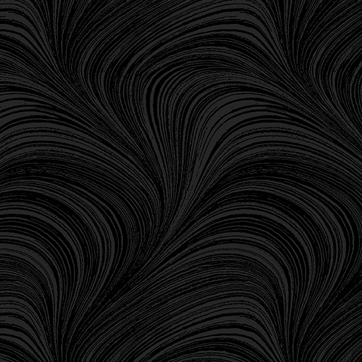Pearlescent Wave Text Black