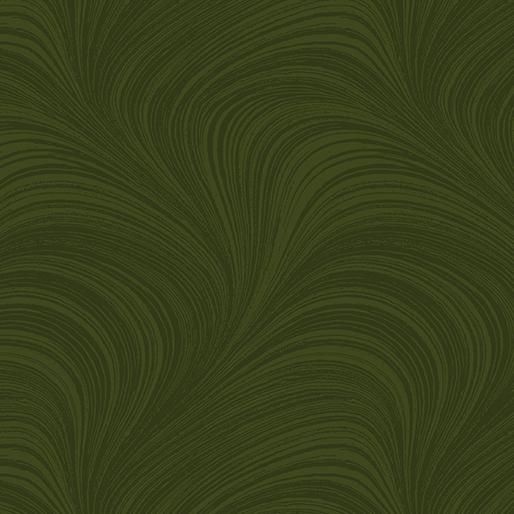 Pearlescent Wave Text Dark Green Metallic