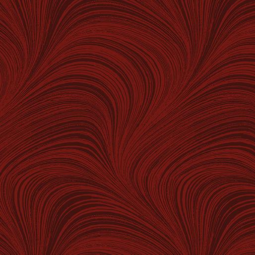 108 Wide Wave Texture - Dark Red