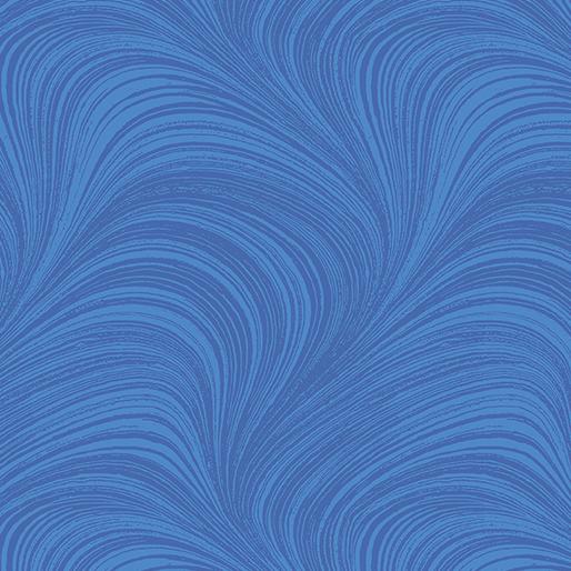 Wave Texture Wide - Medium Blue - 2966W-52