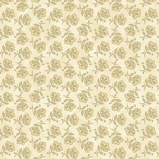 Tossed Jacobean Flower - Cream
