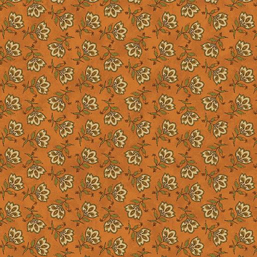 Tossed Jacobean Flower - Orange