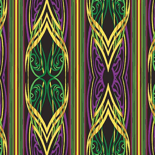 Piece & Joy - Stripe - Purple/Multi - 3178M-66