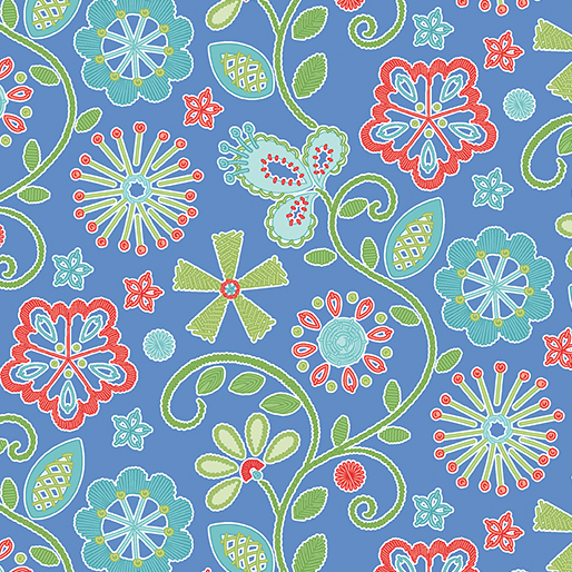 03403 50 Sewing Room Embroidery by Amanda Murphy for Contempo Studios. 100% cotton 43 wide