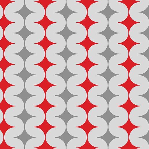 Geo Pop Diamond Pop Grey/Red -11