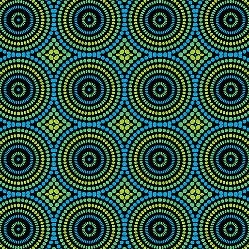 Geo Pop - Mosaic Dots Blue/Green - 3426-55