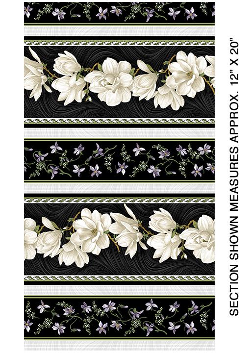 Mag Blooms Stripe Cream/Black
