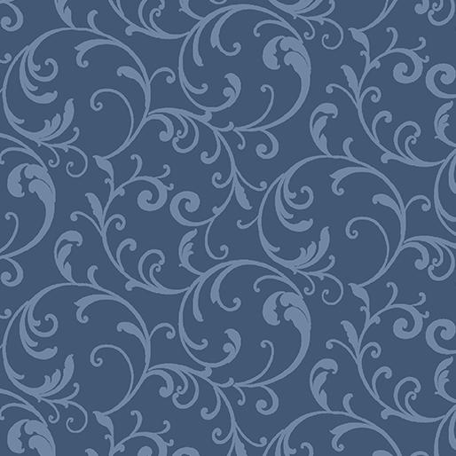 Classic Scroll Blue