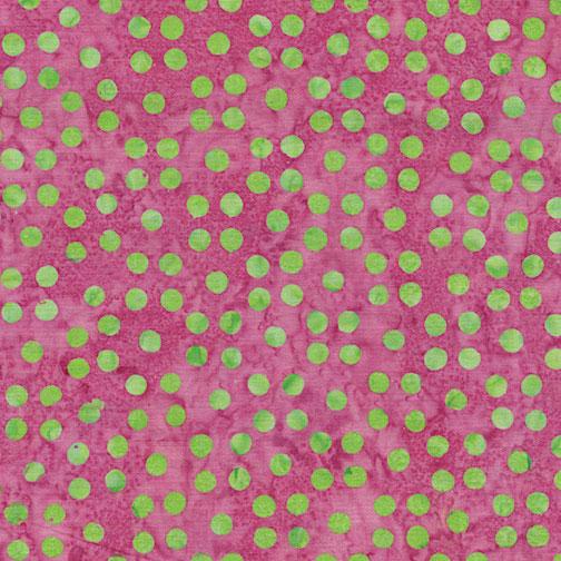 Bali Dots Great Pink & Green 3671-22