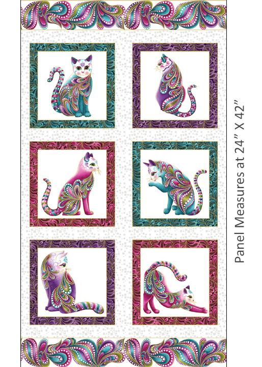 Cat-I-tude Panel White/Multi
