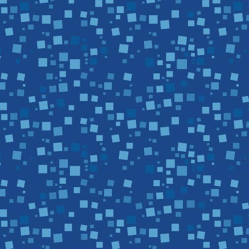 Small Geo Squares Blue
