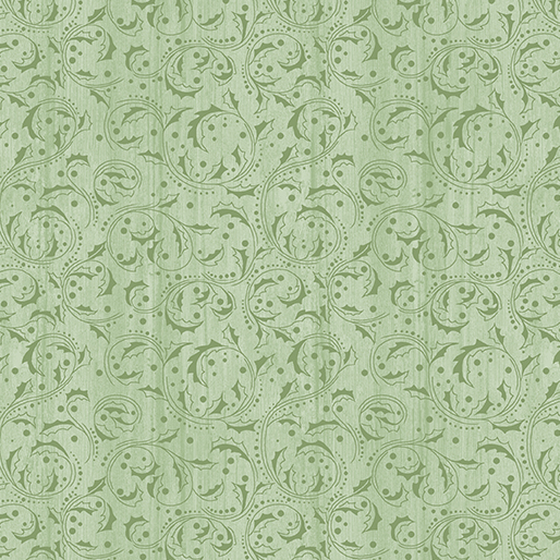 Washed Scroll Light Green