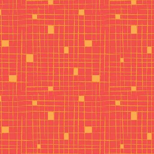 Modern Marks Crosshatch Tangerine