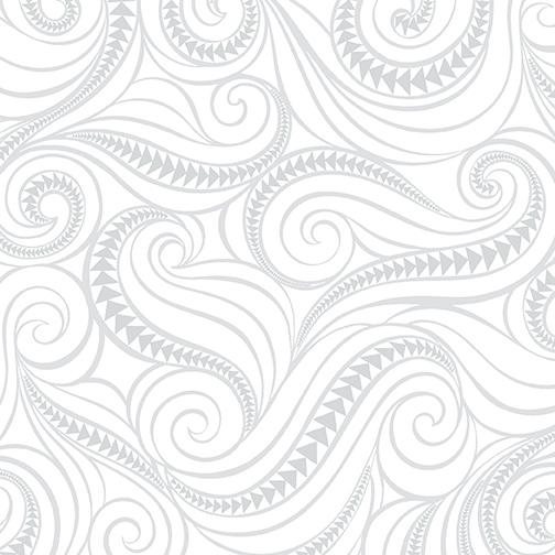 Benartex Free Motion Fantasy 5441-09 Flying Geese White