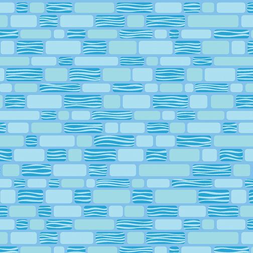 Sky Blue Bricks:   Free Motion Fantasy by Amanda Murphy for Contempo Studio in association with Benartex
