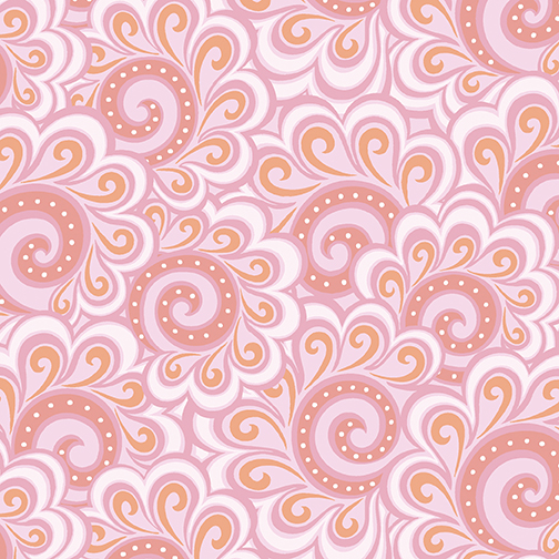 Free Motion Fantasy Swirl Feather Pink