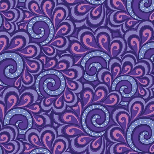 Swirl Feather Purple