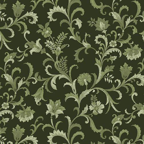 2745 Vine Scroll Green