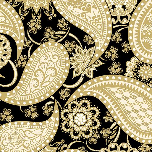 Paisley Gold/Black