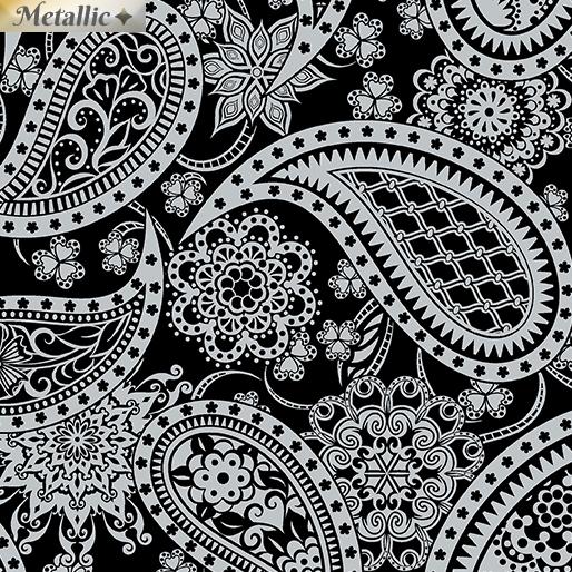 Paisley Silver/Black