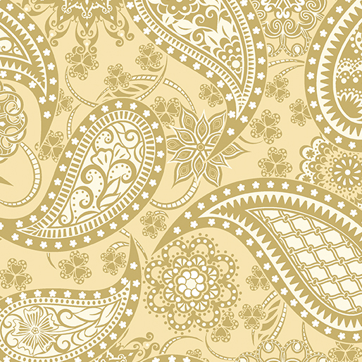 BTX19 Wide Paisley Gold 108 backing