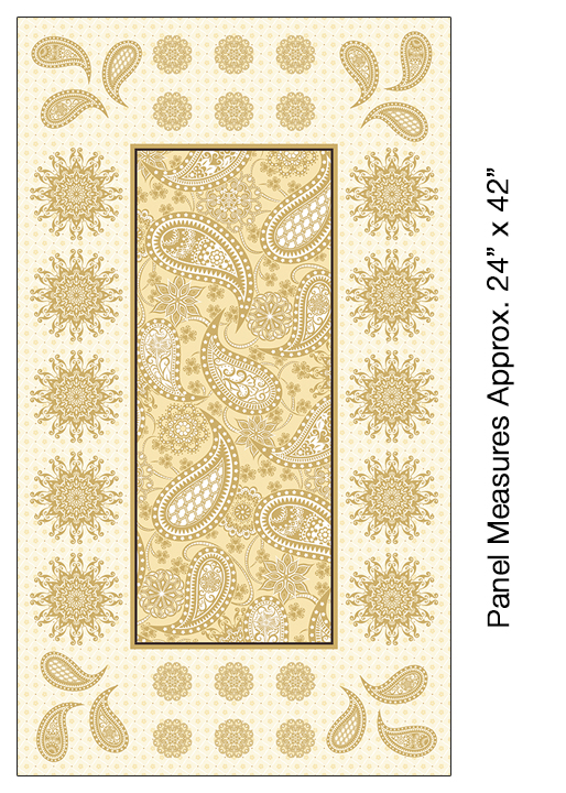 Jubilee Embroidery Panel - Cream