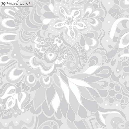 Floral Light Gray (Silver)