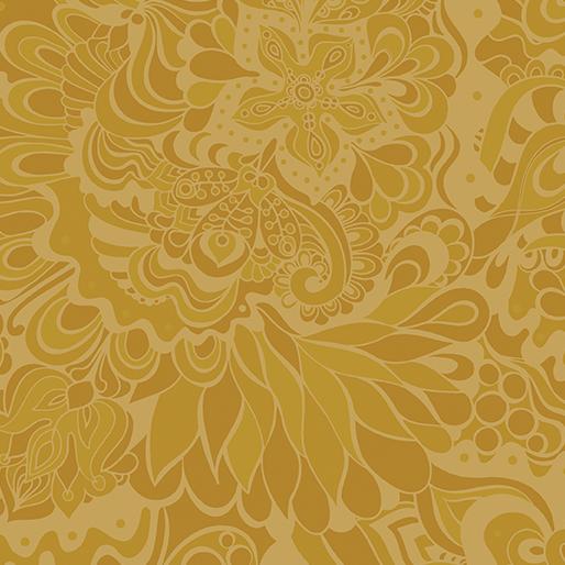Benartex Jubilee Floral Gold