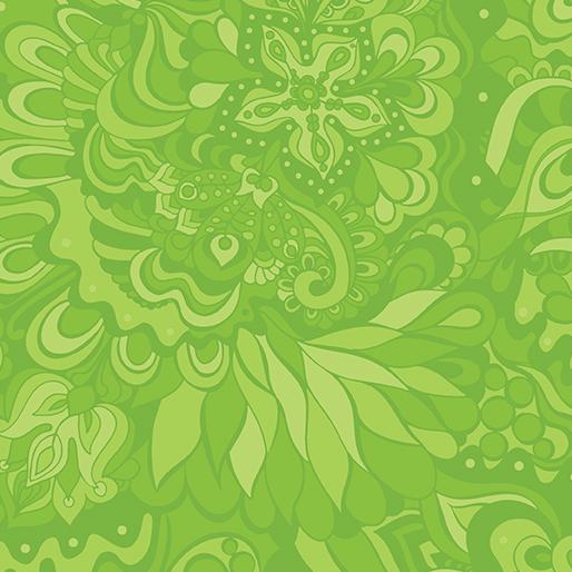 Benartex -Crescendo Floral Lime 45W