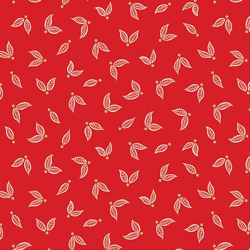 Jubilee Little Leaves Red 5495M-10