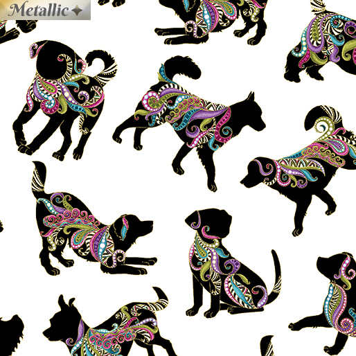 Dog on it Hot Diggity Small White/Multi 6255M-09