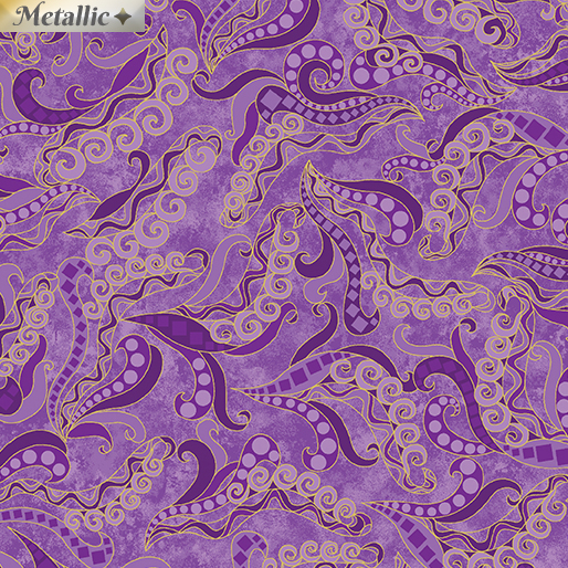 Holey Scrolls Purple 6257M-66