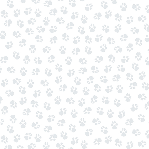 Dog On It - Paw Prints White/Lt Grey