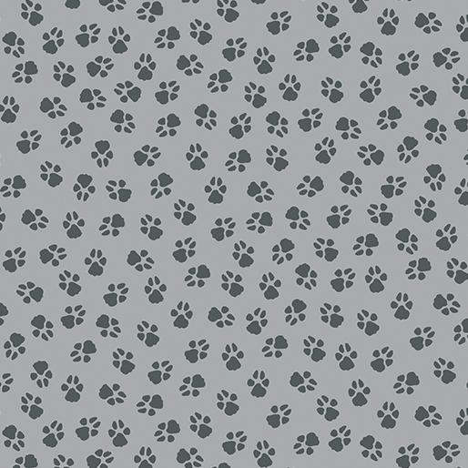 Dog On It - Paw Prints Medium Grey