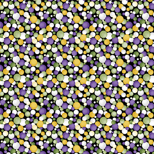 Benartex Lilyanne 626-65 Watercolor Circles Purp/Yellow