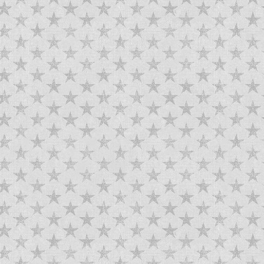 American Rustic Tonal Stars Light Grey