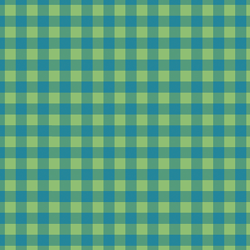 CONTEMPO WARP & WEFT Check Plaid Blue/Green 6603Y-48