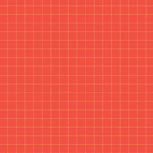 CONTEMPO WARP & WEFT Windowpane Orange/Red 6604Y-10