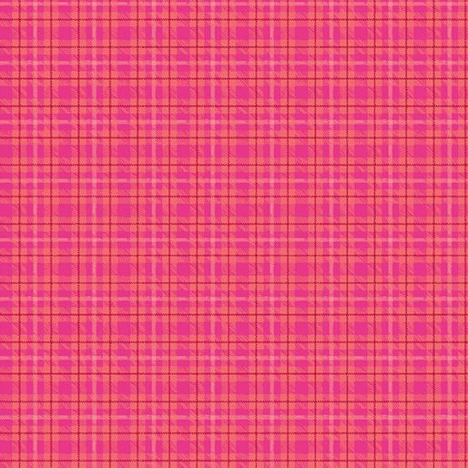 CONTEMPO WARP & WEFT Multi Plaid Hot Pink 6606Y-02