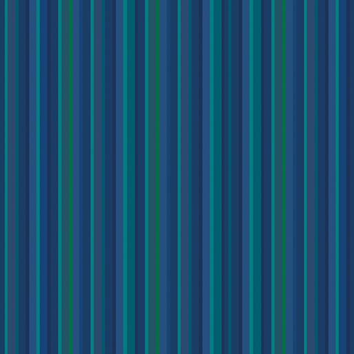 CONTEMPO WARP & WEFT Blue Stripe Blue 6612Y-50