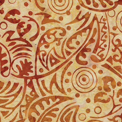 Deco Leaf Amber/Yellow 6624-38