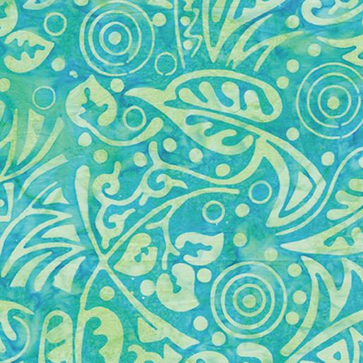 Deco Leaf Turquoise