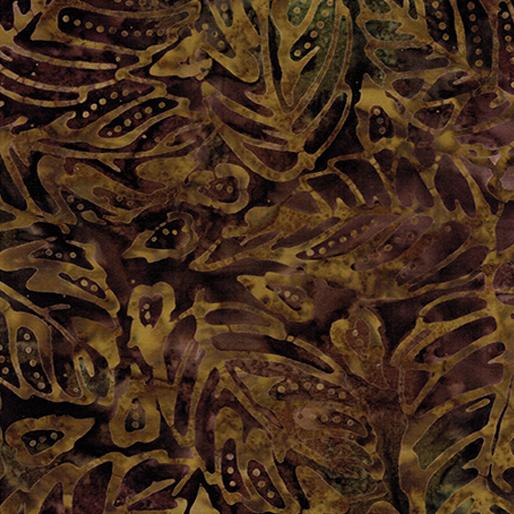 Forest Leaf Golden Cocoa Batik 6625-77