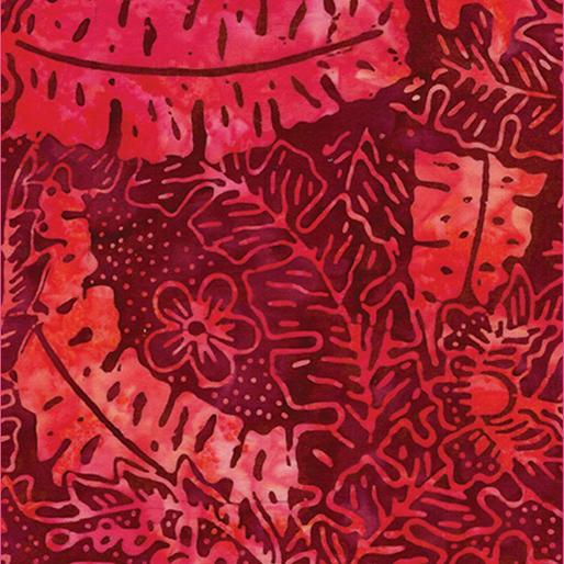 Tropical Leaf Red