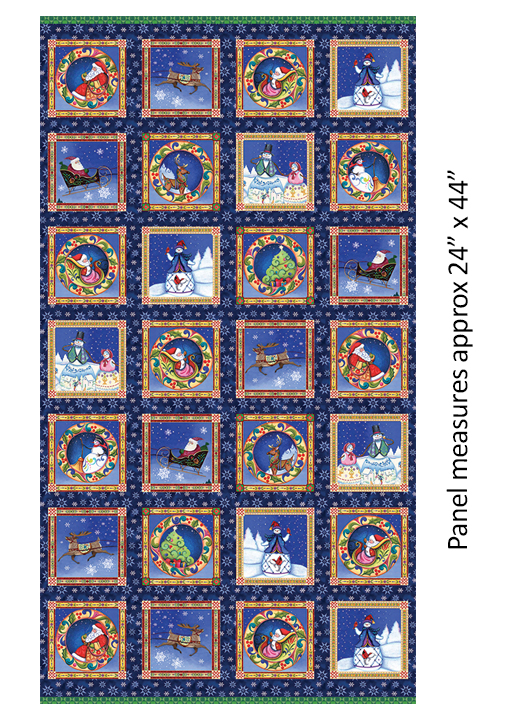 A Quilter's Xmas Panel Multi