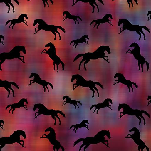 Tossed Horses Red/Multi