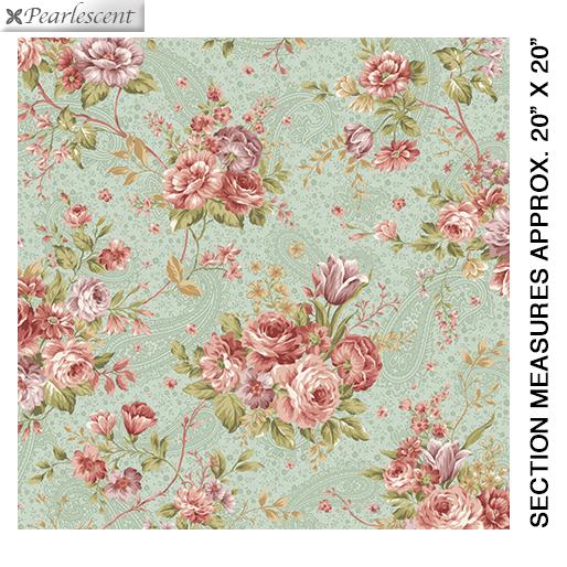 Zelie Ann from Benartex #6711 46- Erma's Bouquet Sage