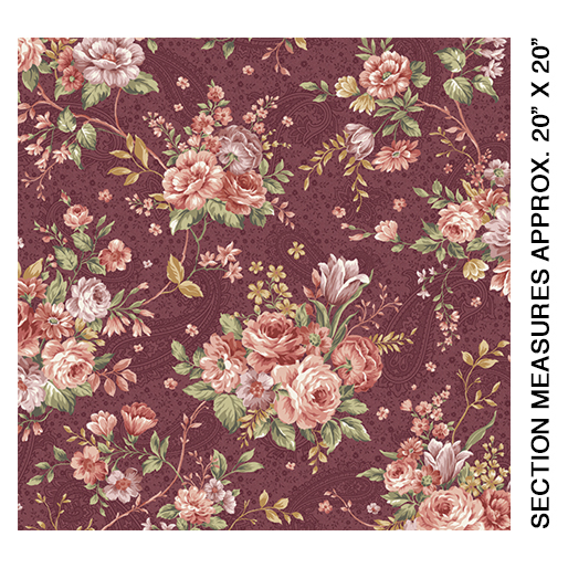 Erma's Bouquet Burgundy 6711-87